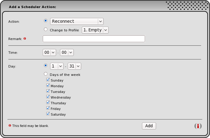 Add a Scheduler Action Box